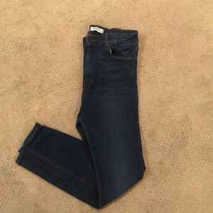 Zara 3/4 high waisted women's jeans